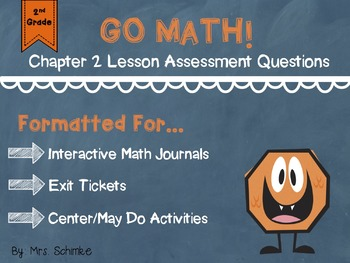 2nd Grade Go Math! Lesson Assessments - Chapter 2