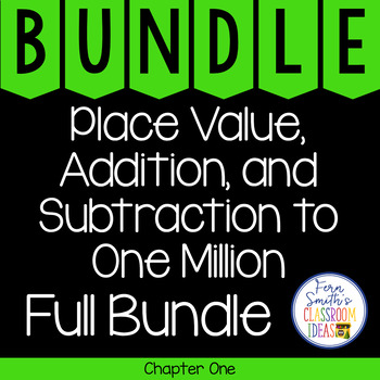 4th Grade Go Math Place Value to One Million Chapter 1  Bundle