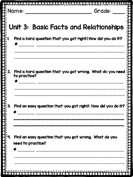 Go Math Test Reflection - 2nd Grade