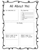 2nd Grade Goals and About Me Freebie
