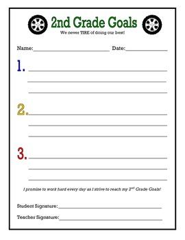 2nd Grade Goals (car theme)