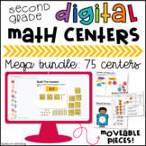 2nd Grade Google Classroom™ Digital Math Centers MEGA Bundle