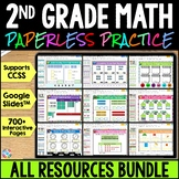 2nd Grade Google Classroom Math Activities Bundle   Distan