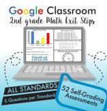 2nd Grade Google Classroom Math Exit Slips, Auto-Graded Exit Tickets, Digital