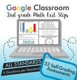2nd Grade Math Distance Learning ⭐ AUTO-GRADED Exit Tickets