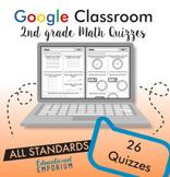 2nd Grade Digital Math Quizzes, Google Math Assessments, 2nd Grade