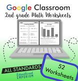 Math Worksheets⭐2nd Grade Digital Practice⭐Google Classroom™ Distance Learning
