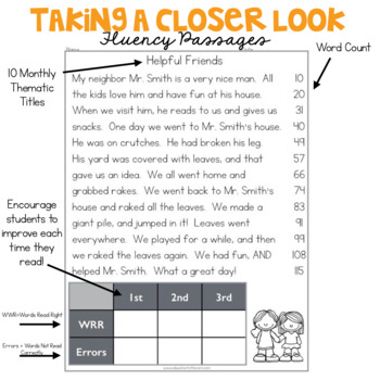 2nd Grade Fluency Passages for October
