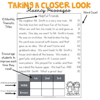 2nd Grade Fluency Passages for October