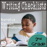 2nd Grade Grade Opinion, Narrative, & Informational Writing Rubrics