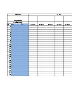 2nd Grade Gradebook Template