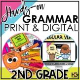2nd Grade Grammar Bundle Digital and Print   Hands-on Reading