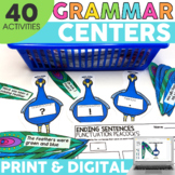 2nd Grade Grammar Centers   Printable & Digital   Literacy