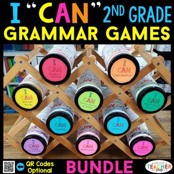 2nd Grade Grammar Games | 2nd Grade Grammar Centers BUNDLE