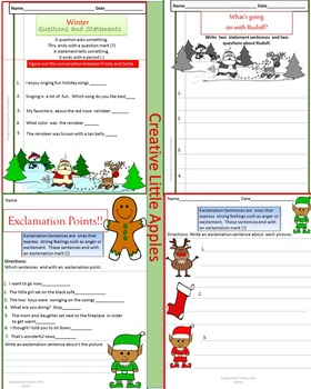 December - 1st/2nd Grade - Punctuation Practice - NO PREP {CC.Aligned}