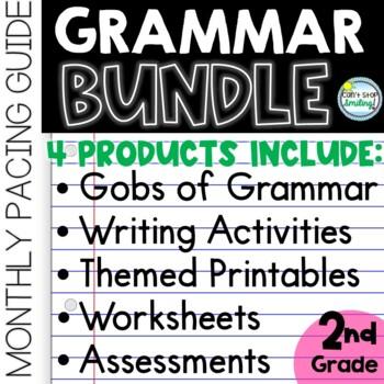 2nd Grade Grammar Bundle ~ Assessments, Printables and Pacing Calendar