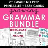 2nd Grade Grammar NO PREP Activities + Task Cards GROWING BUNDLE