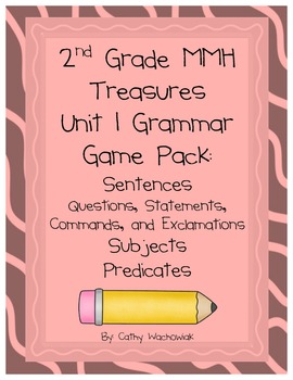 2nd Grade Grammar Pack Treasures MMH Unit 1