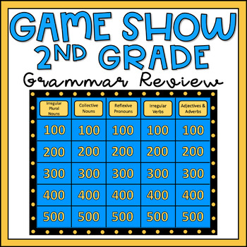 2nd Grade Grammar Review Game Show EDITABLE