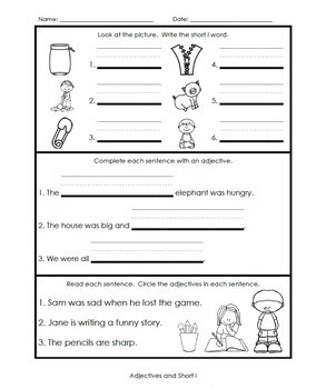 1st Grade Grammar and Phonics Weekly Assessments [Common Core Aligned]