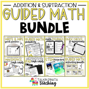 Guided Math Bundle {2nd Grade Addition & Subtraction}