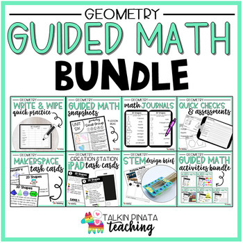 BUNDLE Second Grade Geometry Guided Math