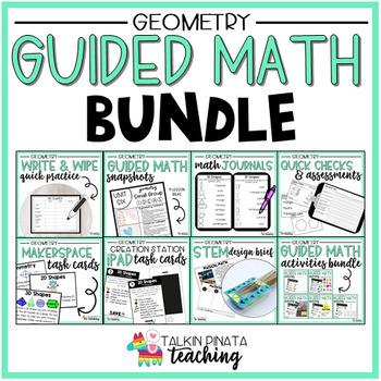 Guided Math Bundle {2nd Grade Geometry}