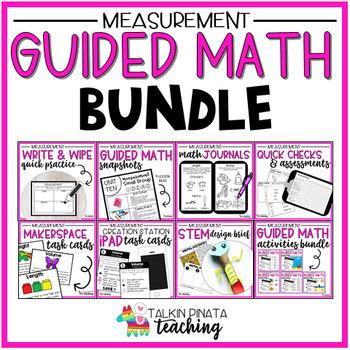 BUNDLE Guided Math Second Grade Measurement