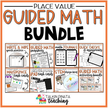BUNDLE Second Grade Place Value Guided Math