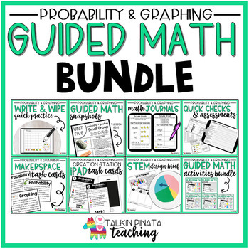 BUNDLE Second Grade Guided Math Probability & Graphing Unit