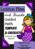 2nd Grade Guided Math Lesson Plan Template & Checklists Bu