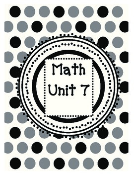 2nd Grade Guided Math Lessons Everyday Math Unit 7 and 8