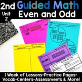 2nd Grade Guided Math -Unit 2 Even & Odd