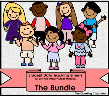 2nd Grade HMH Math NC: Units 1-7 Bundle- Student Data Tracking Sheets