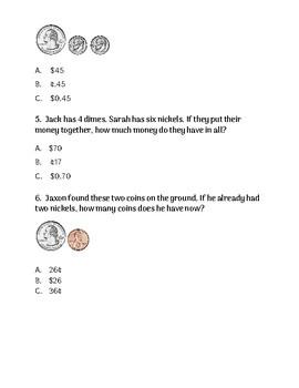 2nd Grade -- HOW MUCH MONEY? Review Sheet *FREEBIE*