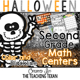 2nd Grade Halloween Math Center Games and Activities