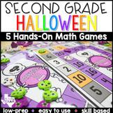 2nd Grade Halloween Math Center Games and Activities