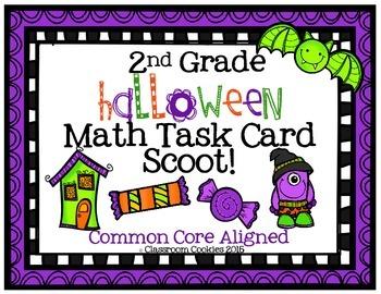 2nd Grade Halloween Math (Common Core Aligned)