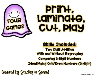 2nd Grade Halloween Math Games