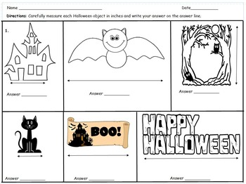 2nd Grade Halloween Measurement Math Center Eureka Math