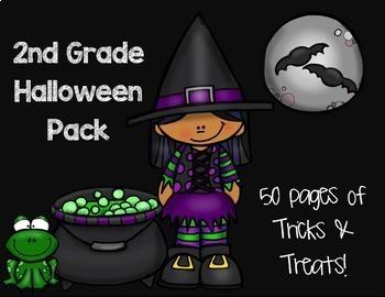 2nd Grade Halloween Pack