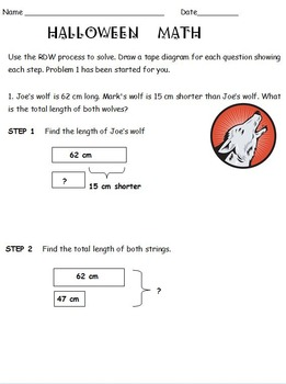 Tape diagram math problems 2nd grade auto electrical wiring diagram 2nd grade halloween tape diagram practice based on eureka math rh teacherspayteachers com tape diagram 3rd ccuart Choice Image