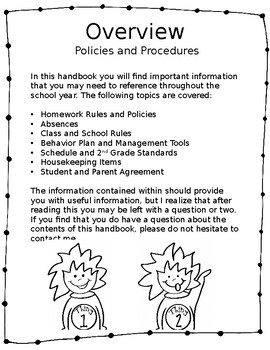 2nd Grade Handbook Completely Editable