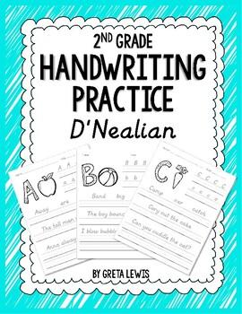 2nd Grade Handwriting Practice - D'Nealian by Greta Lewis ...