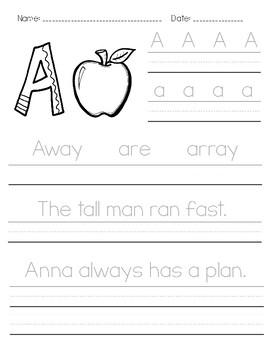 2nd Grade Handwriting Practice - Manuscript by Greta Lewis ...