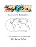 2nd Grade Harcourt Social Studies Interactive Notebook Unit 1