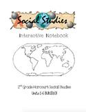 2nd Grade Harcourt Social Studies Interactive Notebook Units 1-6 BUNDLE!!