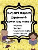 2nd Grade Harcourt Trophies Supplement: Banner Days Theme 2 {Neighborhood News}