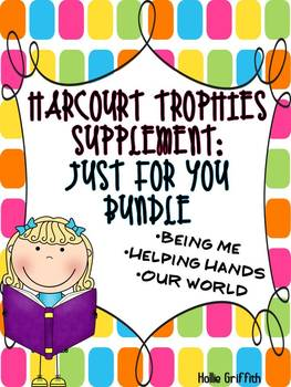 2nd Grade Harcourt Trophies Supplement: Just For You Bundle