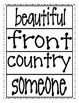 High Frequency Word Cards - Reading Street Second Grade (2013 Edition)